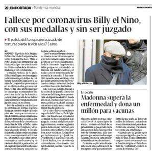 Así dio la noticia Diario de Pontevedra